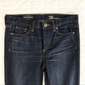 EUC J.Crew 26R Midrise Toothpick dark denim jeans